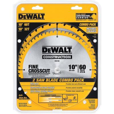 DeWalt Construction 10 In. Assorted Circular Saw Blade Set (2-Pack)
