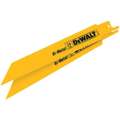 DeWalt 6 In. 24 TPI Thin Metal Reciprocating Saw Blade (2-Pack)