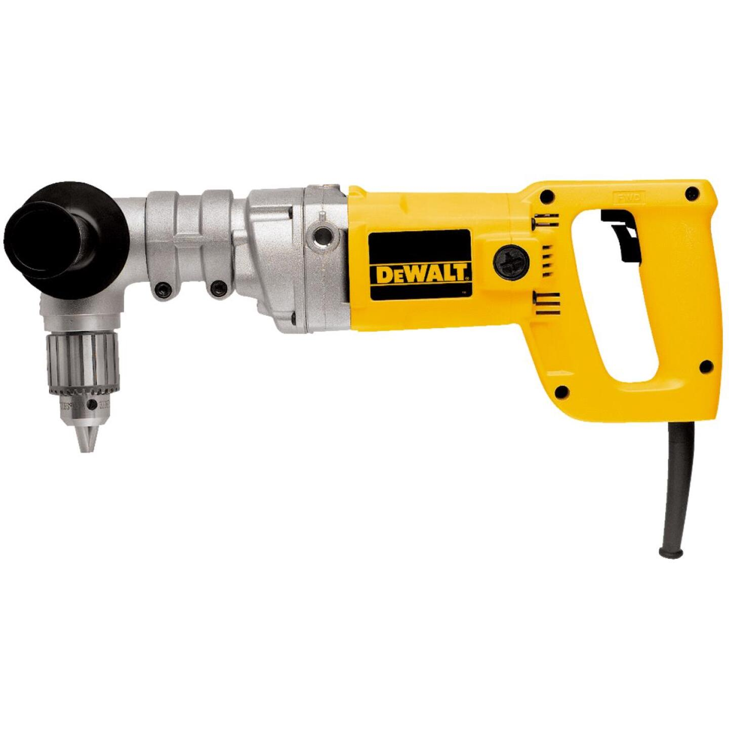 DeWalt 1/2 In. 7-Amp Keyed Electric Angle Drill with Case Image 1