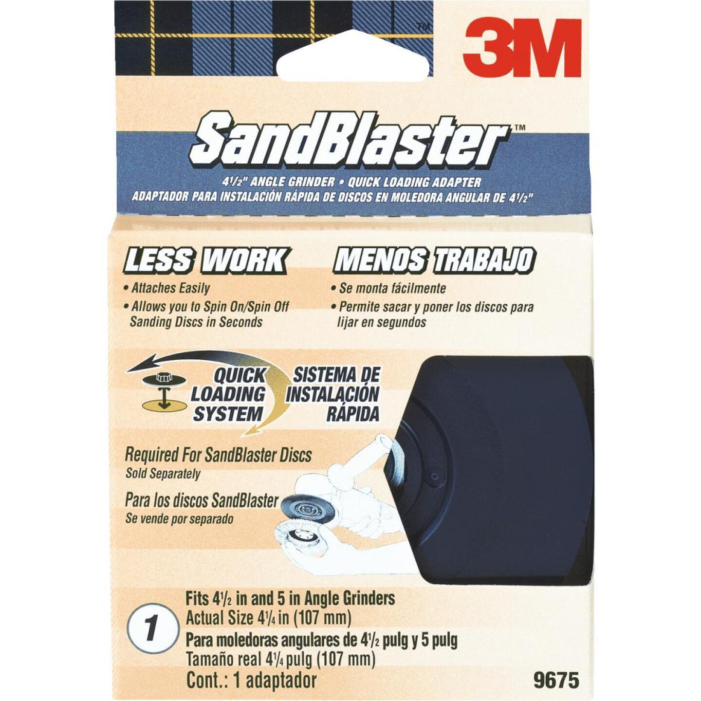 3M Sandblaster 4-1/2 In. Angle Grinder Backing Pad Image 1