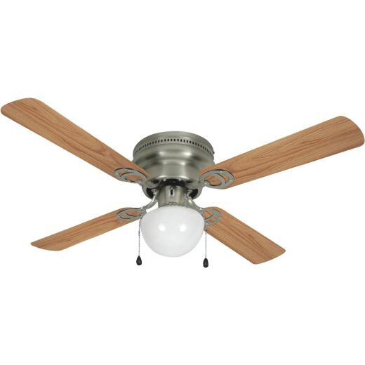 Home Impressions Neptune 42 In. Brushed Nickel Ceiling Fan with Light Kit