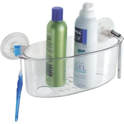 InterDesign Power Lock Suction Shower Basket