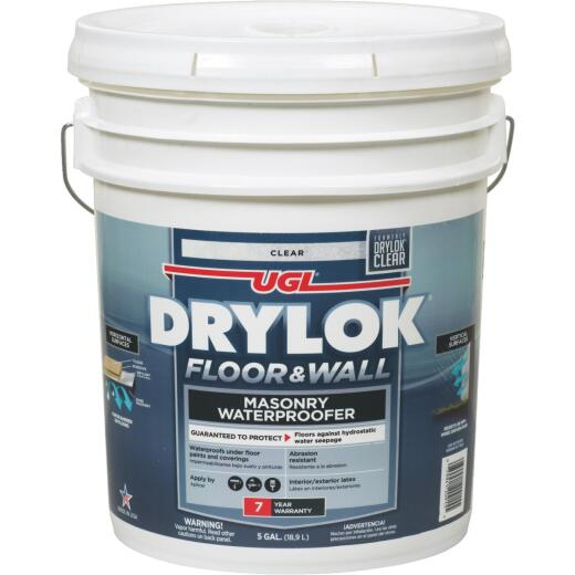 Drylok Clear Floor & Wall Masonry Waterproofer, 5 Gal.