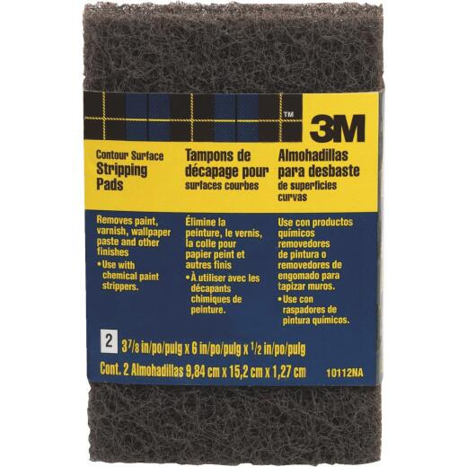 3M 3-7/8 In. x 6 In. Heavy-Duty Paint Stripping Pad (2 Count)