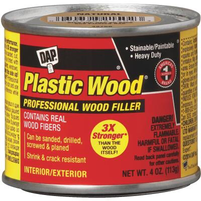 DAP Plastic Wood 4 Oz. Gold Oak Solvent Professional Wood Filler