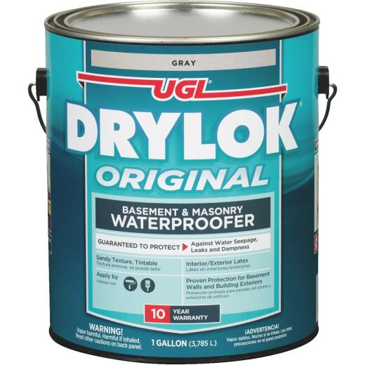 Drylok Gray Latex Masonry Waterproofer, 1 Gal.