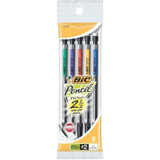 Bic 0.7 mm Refillable Mechanical Pencil (5-Pack)